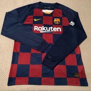 Barcelona Nike 2019/20 Long Sleeve Soccer Jersey